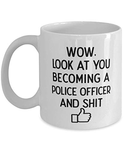 Look At You, Police Officer Coffee Mug, Police Academy Graduation, Police Academy Graduation Party, Police Officer Graduate
