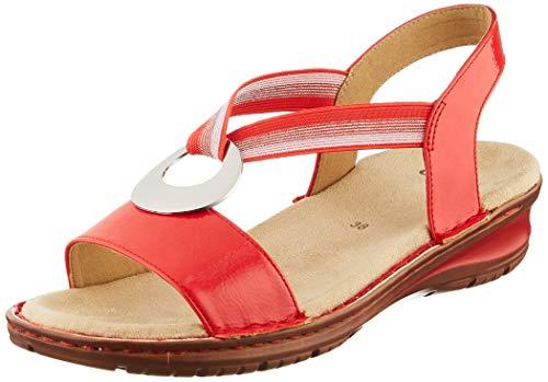 ARA dam Hawaii T-spangen sandaler, Röd Corallo 77-41 EU