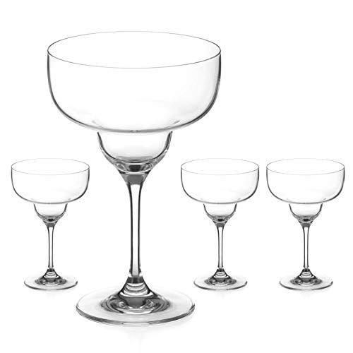 DIAMANTE Crystal Margarita Glasses Set of 4 - 'Auris' Collection...