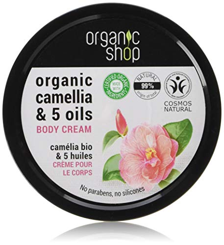 Organic Shop Body Cream Japanese Camellia Organic Camellia & 5 Oils 250ml,
