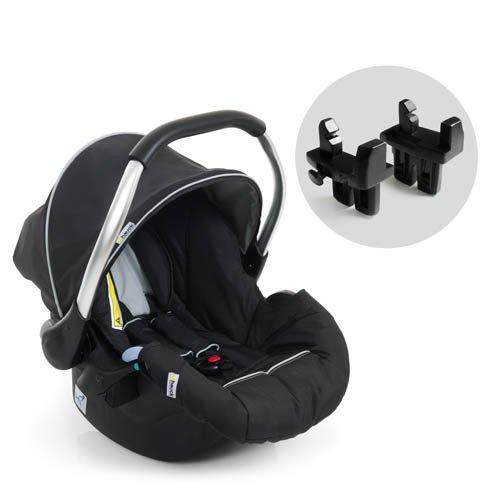 Hauck 4007923613993 Babyschale Autositz Zero Plus Comfort für Geschwisterwagen Duett 2 (inklusive Adapter), schwarz