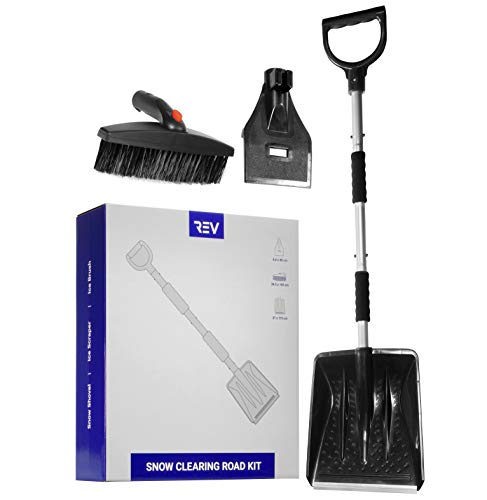 VViViD Snow Clearing Road Kit with Shovel Ice Scraper and Ice Brush