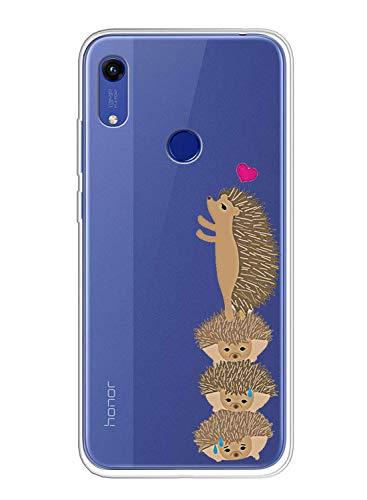 Oihxse Schutzhülle für Xiaomi Redmi Note 7, ultradünn, transparent, TPU, Silikon, Bumper weich, niedlich, kratzfest