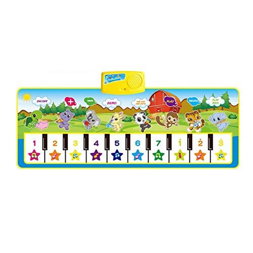 Zzlush Educational Spielzeug Kinder Lernen Musikalische Matte mit Tier Stimme Baby Piano Spiele Teppich musikspielinstrument Montessori Spielzeug frühes pädagogisches Spielzeug für Kinder