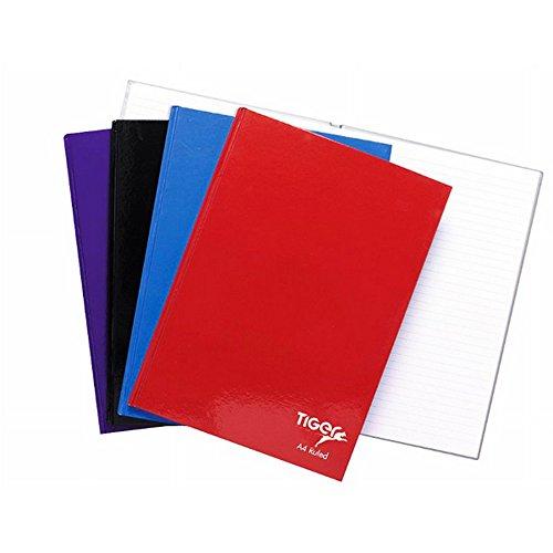 Tiger Stationery - Quaderno con copertina rigida (A5 (confezione da 5)) (Assortiti)