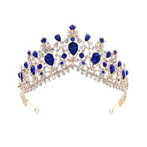 Mujeres corona hechos a mano de lujo princesa pelo banda aro del...