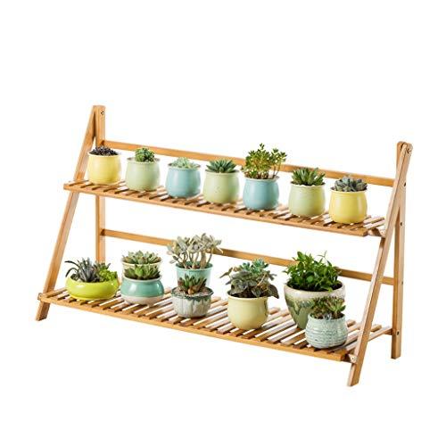 Porte-fleurs Bambou Au sol, multi-couches, salon, balcon, intérieur, pot de fleurs, étagère, étagère de rangement (taille : 100 * 31 * 56cm)