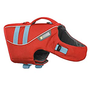 RUFFWEAR, Float Coat Dog Life Jacket for Swimming, Adjustable and Reflective, Sockeye Red, Small