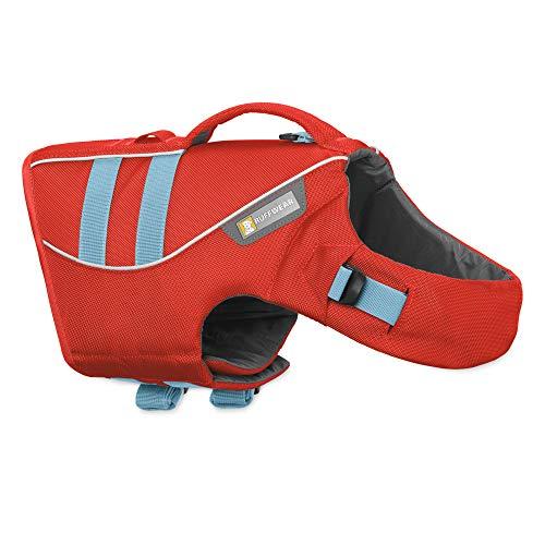 Ruffwear Schwimmweste für Hunde, Große Hunderassen, Größenverstellbar, Größe: L, Rot, Float Coat, 45102-601L