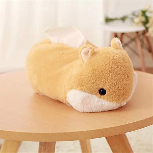 TIANLIYUN - Set di asciugamani di peluche, motivo: criceti, gatti, creativi, casetta di fazzoletti, cuscino in peluche (colore: B-marrone, dimensioni: 25 cm)