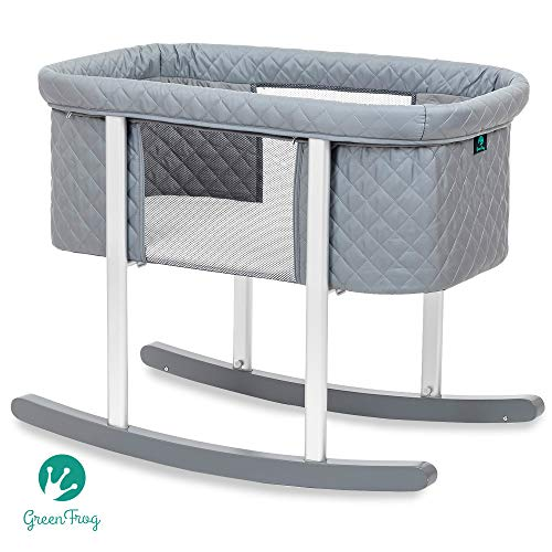 New Baby Bassinet Cradle Includes Gentle Rocking Feature, Great for Newborns and Infants Safe Mattre...