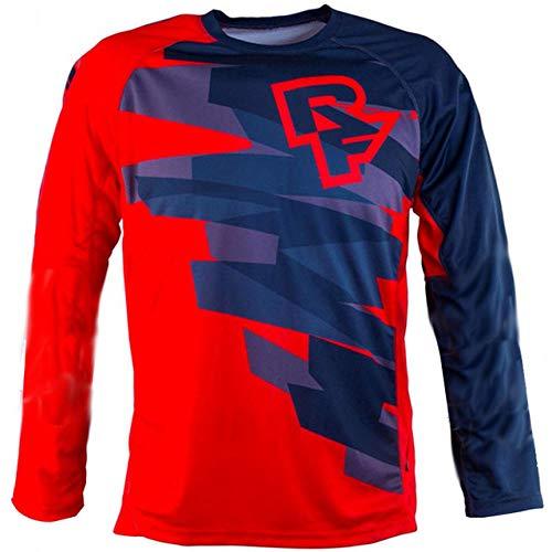 KKQTMY Jerseys de descenso para hombre RACE FACE Camisetas de MTB de bicicleta de montaña Offroad DH Camiseta de motocicleta Motocross Ropa deportiva FXR-XS