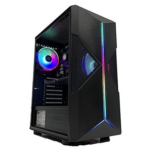 GOLOOK • PC Desktop Gaming RGB • Intel i5 • 16GB • SSD 480GB • WiFi • Scheda Video Dedicata GT1030 2GB • Windows 10 Pro X64 • Computer Fisso