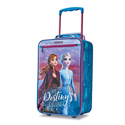 American Tourister Kids' Disney Softside Upright Luggage, Frozen Destiny, Carry-On 18-Inch