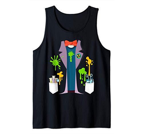 Disfraz de científico loco Divertido Nerd Química Física Camiseta sin Mangas