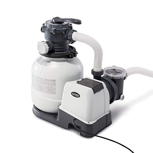 Intex 26645EG Krystal Clear 12-Inch 2100 GPH Above Ground Pool Sand Filter Pump with Automatic Timer and 6-Function Control