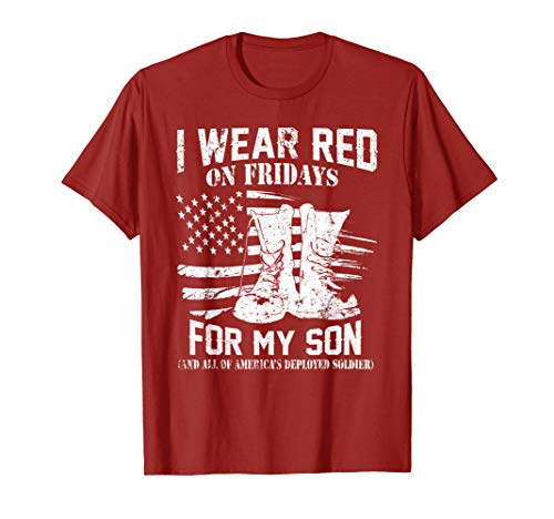 Wear Red On Fridays Remember Everyone Deployed Shirts Gifts