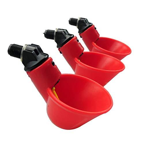 10 PCS Automatische Huhn/Geflügel Trinker/WATERERS mit Bewässerung Cups Schalen rot Kunststoff Backyards Huhn Flock Ente Vogel Wasser Feeder