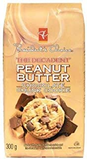 President's Choice The Decadent Peanut Butter Chocolate Chunk Cookie 300g {Imported from Canada}