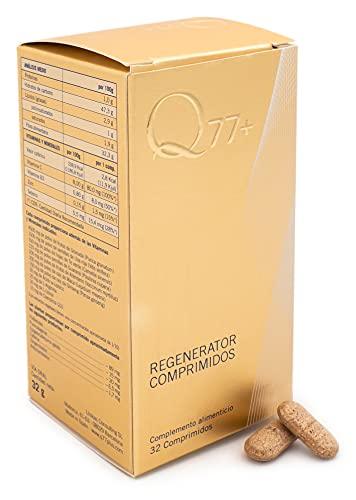 Q77+ REGENERATOR | COMPRIMIDOS REGENERADORES FACTOR 77 | Multivitaminas y Minerales Anti-Age | Salud y Belleza para tu cuerpo | Ideal contra Cansancio | Con Vitamina C, B3, Selenio y Zinc