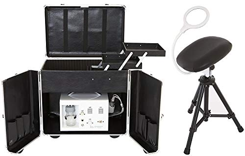 Fußpflege Erstausstattung CS-Dolphi+Koffer Black, Fußpflegegerät Nasstechnik + Koffer