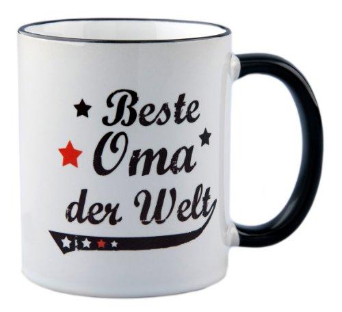 Tasse Beste Oma der Welt Vintage Style - Geschenk
