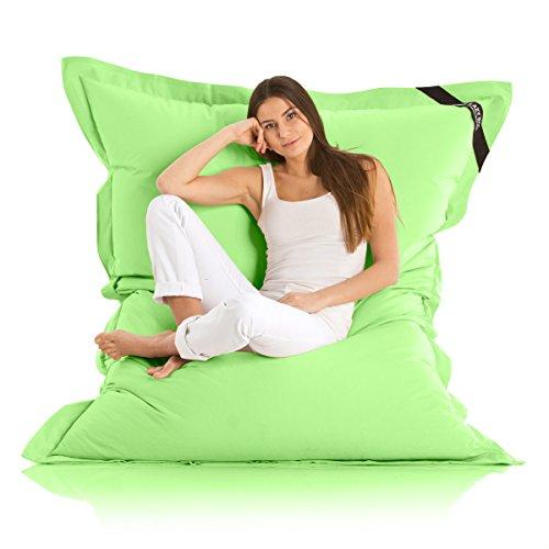 Lazy Bag Original Indoor & Outdoor Sitzsack XXL 400L Riesensitzsack Sitzkissen Sessel für Kinder & Erwachsene 180x140cm (Grün)
