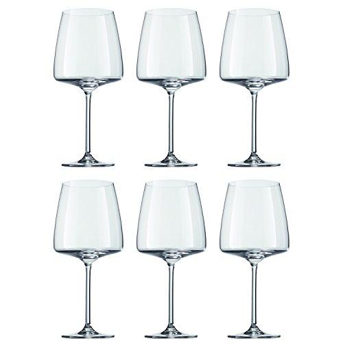 Schott Zwiesel 120595 Sensa Rotweinglas, 710 ml, Kristallglas, klar (6 Stück)
