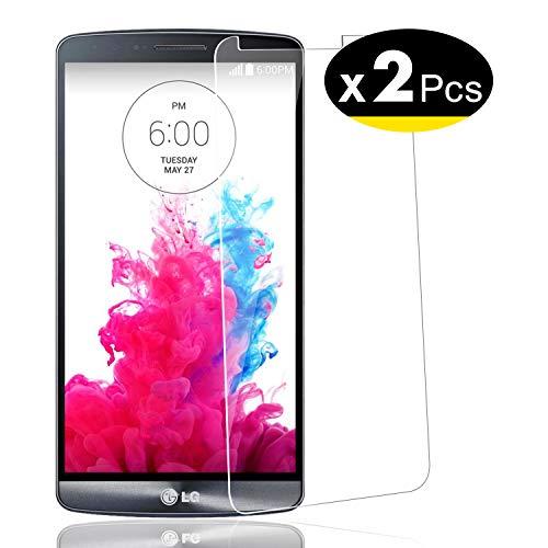 NEW'C PanzerglasFolie Schutzfolie für LG G3, [2 Stück] Frei von Kratzern Fingabdrücken und Öl, 9H Härte, HD Displayschutzfolie, 0.33mm Ultra-klar, Displayschutzfolie LG G3