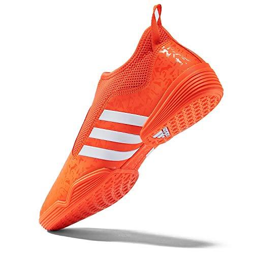 adidas Contestant Martial Arts Taekwondo Indoor Mat Training Shoes - Neon Orange - Size 8.5 (265mm)