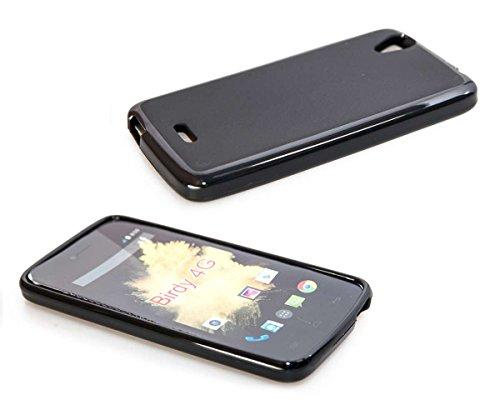 caseroxx TPU-Hülle für Wiko Birdy 4G, Handy Hülle Tasche (TPU-Hülle in schwarz)
