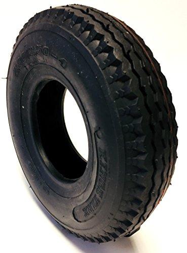 CST Rollstuhlreifen 2.80/2.50-4, 4PR, schwarz, Straßenprofil Leichtlauf, Stabiler Reifenaufbau in 4 PR, Rollstuhl Reifen für Elektromobil, Scooter, E-Rollstuhl