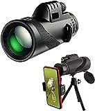 BVYHGCVBW Monoculares de Alta Potencia 40 x 60, telescopio monocular Impermeable, telescopio de detección para niños y Adultos, Viajes, avistamiento de pájaros, Caza