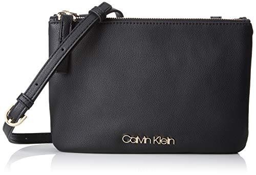 Calvin Klein Damen Ck Must Ew Crossbody Umhängetasche, Schwarz (Black), 1x10x23 cm
