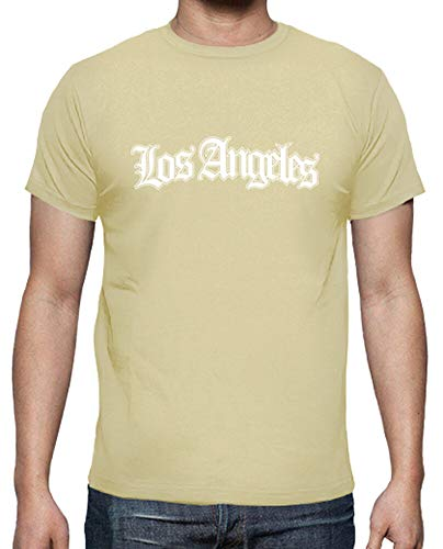latostadora - Camiseta los Angeles Blanco para Hombre Crema XL