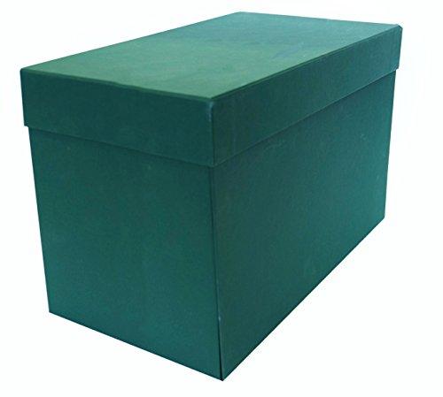 Elba 100580265 - Caja de transferencia de cartón forrado con tela, 21 cm, color verde