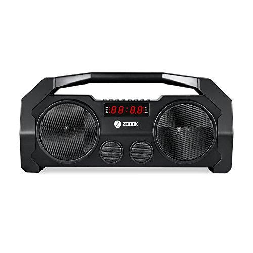 Zoook Rocker Boombox+ 32W Bluetooth Party Speaker with FM/USB/TF/Display/Handsfree Calling (Black)