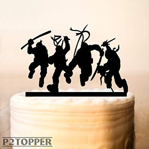 Decoración para tarta de tortugas ninja para tarta de cumpleaños con diseño de tortugas ninja