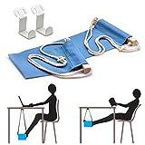 HAC24 Fuß-Hängematte für Büro Fußstütze Schreibtisch Tragbare Fußhängematte Fußablage...