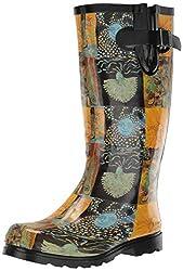 professional Rain Boots Nomad Women's Puddles III, Sun and Moon, 8 Medium US