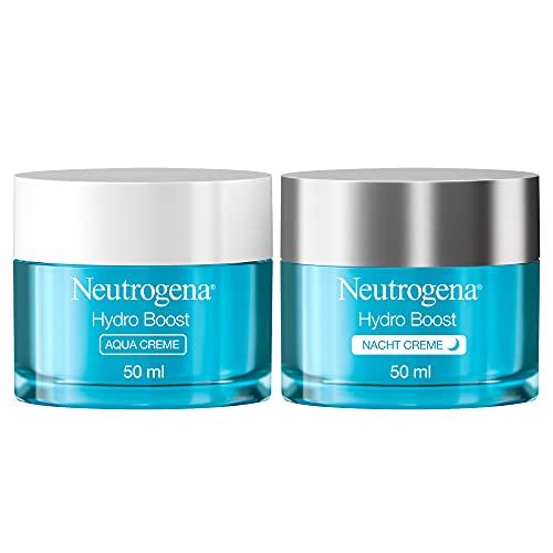 Neutrogena Hydro Boost Gesichtspflege Set, Gesichtscreme für Tag & Nacht: Tagescreme Aqua Creme und...