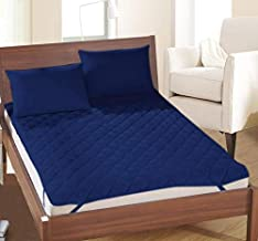 ThreadWorks Microfiber Double Bed Water Resistant and Dust Proof Mattress(Blue, 72x78cm)