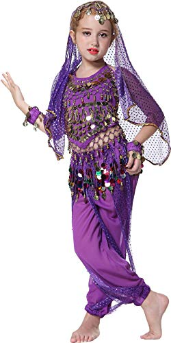 Seawhisper Jeannie Kostüm für Kinder Mädchens Faschings-Kostüm Indische Bauchtänzerin Kostüme 152/164