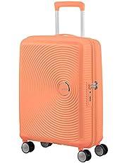 American Tourister Soundbox - Spinner S Espandibile Bagaglio a Mano, 55 cm, 35.5/41 L, Arancione (Cantaloupe)