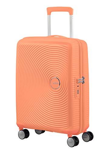 American Tourister Soundbox - Spinner S Expandible Equipaje de Mano, 55 cm, 35.5/41 L, Naranja (Cantaloupe)
