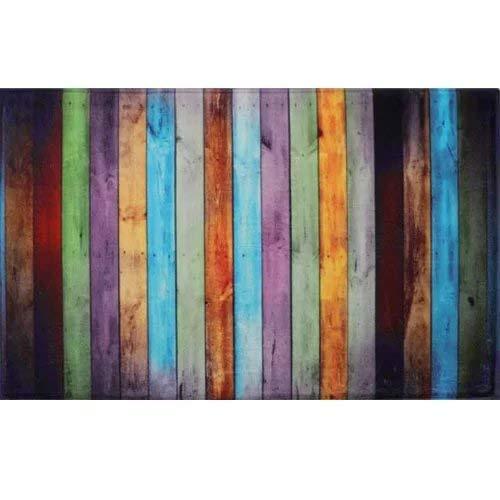 MAYSHAG Fashion Dream Flannel Bath Rug Non - Slip Floor Mat Colored Kitchen Carpet Soft Absorbent Bathroom Rug Seriation Wood Grain(Wide 20 Inch x Length 31 Inch)