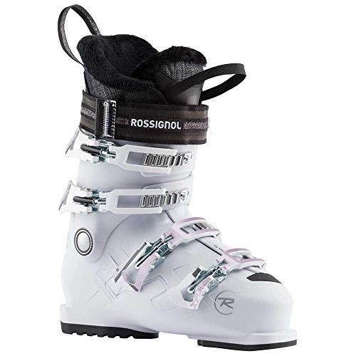 Rossignol Pure Comfort 60 Chaussures de Ski Femme, Blanc Gris, 26