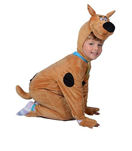 O11715-2-3 braun-schwarz Baby Kleinkinder Kinder Scooby DOO Hunde Kostüm Gr.2-3 Jahre
