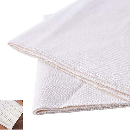 Professional Bakers Dough Dough Cloth-(29 3/8 x17 3/4 inch)100% Pure Cotton Pastry Proofing Cloth of Baking French Bread Cloth,Family baking helper