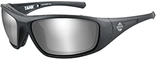 Harley-Davidson Men's Tank Sunglasses, Silver Gray Len/Matte Black Frame HDTAN04